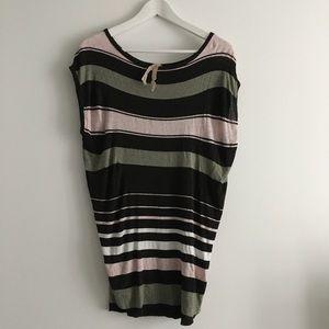 Anthropologie striped knit top crewneck tunic